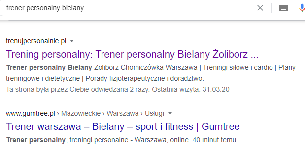Trenerzy personalni Warszawa
